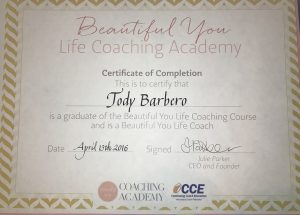 Beautiful You Coaching Certificate CCA